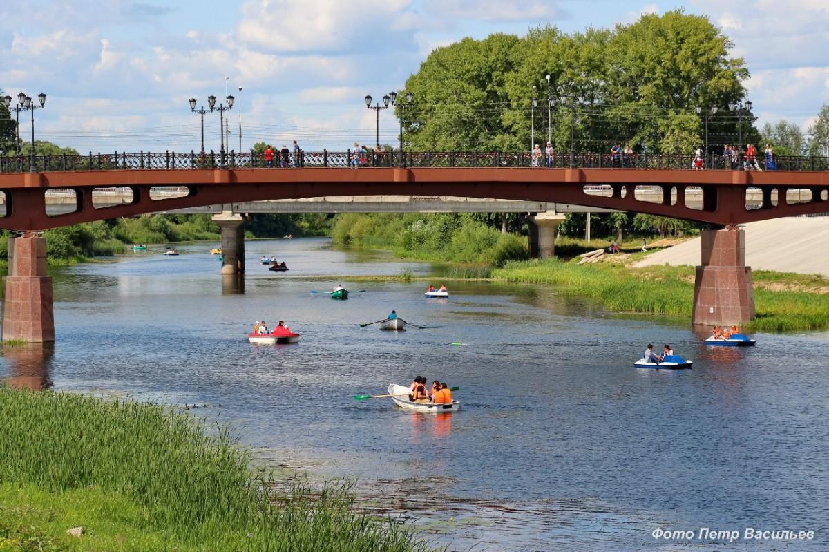 Река Малая Кокшага. Воскресенский мост в Йошкар-Оле